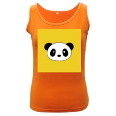 Face Panda Cute Women s Dark Tank Top