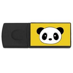 Face Panda Cute USB Flash Drive Rectangular (4 GB)