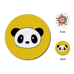 Face Panda Cute Playing Cards (Round)