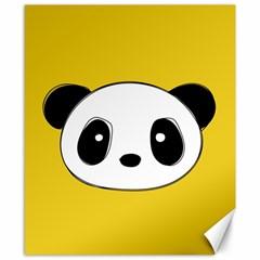 Face Panda Cute Canvas 8  x 10