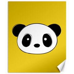 Face Panda Cute Canvas 11  x 14