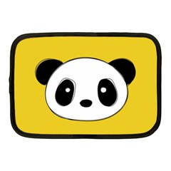 Face Panda Cute Netbook Case (Medium)