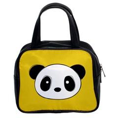Face Panda Cute Classic Handbags (2 Sides)