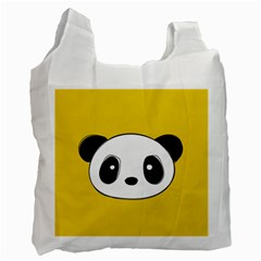 Face Panda Cute Recycle Bag (One Side)