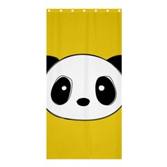 Face Panda Cute Shower Curtain 36  x 72  (Stall)