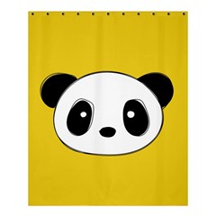 Face Panda Cute Shower Curtain 60  x 72  (Medium)