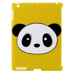 Face Panda Cute Apple iPad 3/4 Hardshell Case (Compatible with Smart Cover)