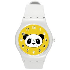 Face Panda Cute Round Plastic Sport Watch (M)