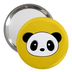 Face Panda Cute 3  Handbag Mirrors