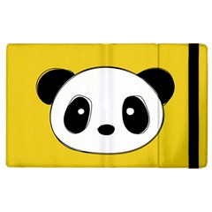 Face Panda Cute Apple iPad 2 Flip Case