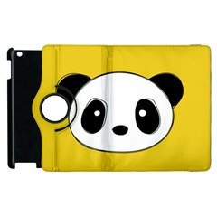 Face Panda Cute Apple iPad 2 Flip 360 Case