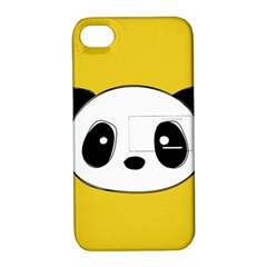 Face Panda Cute Apple iPhone 4/4S Hardshell Case with Stand