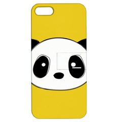 Face Panda Cute Apple iPhone 5 Hardshell Case with Stand