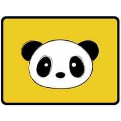 Face Panda Cute Double Sided Fleece Blanket (Large)