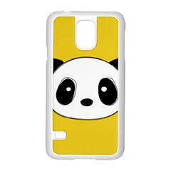 Face Panda Cute Samsung Galaxy S5 Case (White)
