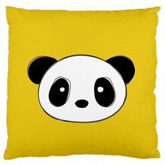 Face Panda Cute Large Flano Cushion Case (Two Sides)