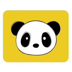 Face Panda Cute Double Sided Flano Blanket (Large)