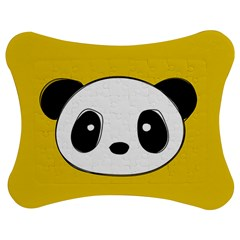 Face Panda Cute Jigsaw Puzzle Photo Stand (Bow)