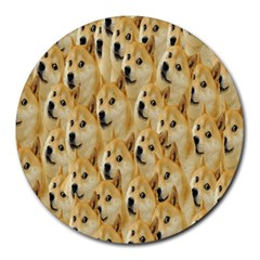 Face Cute Dog Round Mousepads