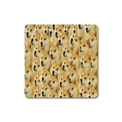 Face Cute Dog Square Magnet