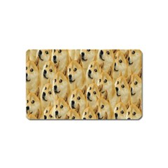 Face Cute Dog Magnet (Name Card)