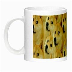 Face Cute Dog Night Luminous Mugs