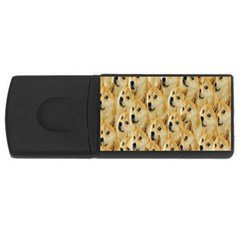 Face Cute Dog USB Flash Drive Rectangular (4 GB)