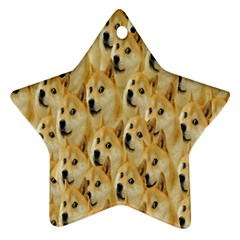 Face Cute Dog Star Ornament (Two Sides)