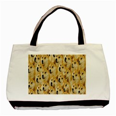 Face Cute Dog Basic Tote Bag (Two Sides)