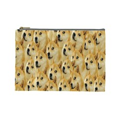 Face Cute Dog Cosmetic Bag (Large)
