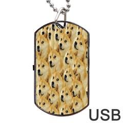 Face Cute Dog Dog Tag USB Flash (One Side)