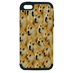 Face Cute Dog Apple iPhone 5 Hardshell Case (PC+Silicone)