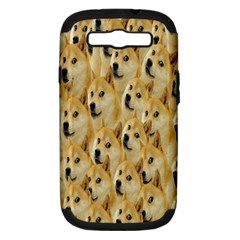 Face Cute Dog Samsung Galaxy S III Hardshell Case (PC+Silicone)