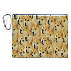 Face Cute Dog Canvas Cosmetic Bag (XXL)