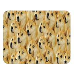 Face Cute Dog Double Sided Flano Blanket (Large)