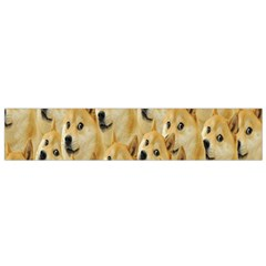 Face Cute Dog Flano Scarf (Small)