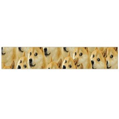 Face Cute Dog Flano Scarf (Large)