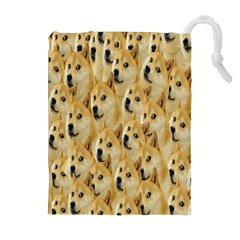 Face Cute Dog Drawstring Pouches (Extra Large)