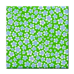 Flower Green Copy Tile Coasters