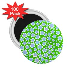 Flower Green Copy 2.25  Magnets (100 pack)