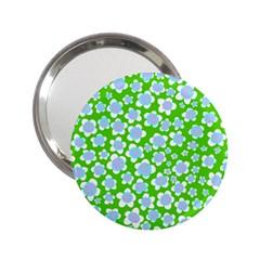 Flower Green Copy 2.25  Handbag Mirrors