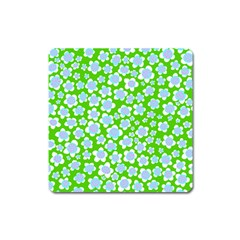 Flower Green Copy Square Magnet