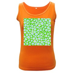 Flower Green Copy Women s Dark Tank Top