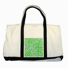 Flower Green Copy Two Tone Tote Bag