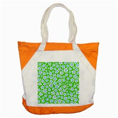 Flower Green Copy Accent Tote Bag