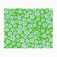 Flower Green Copy Small Glasses Cloth (2-Side)