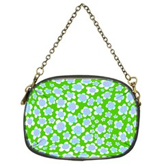 Flower Green Copy Chain Purses (One Side)