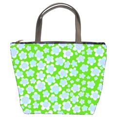 Flower Green Copy Bucket Bags
