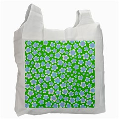 Flower Green Copy Recycle Bag (One Side)