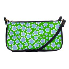Flower Green Copy Shoulder Clutch Bags